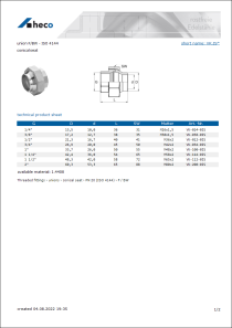Data sheet union F/BW - ISO 4144