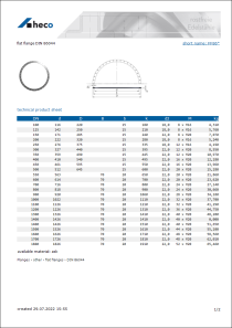 Data sheet flat flange DIN 86044
