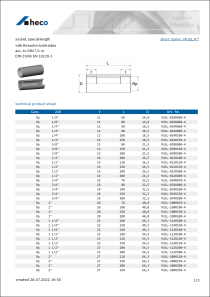 Data Sheet socket, special length