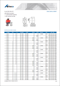 Data sheet 3-way ball valve F/F