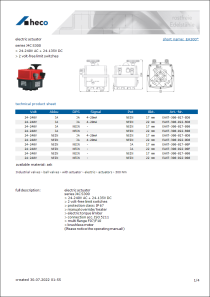 Data Sheet electric actuator