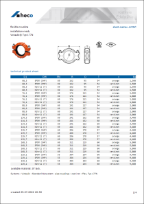 Data sheet flexible coupling
