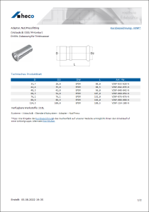 Produktblatt Adapter, Nut/Pressfitting
