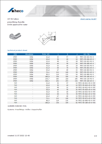Data sheet 45° M-F elbow