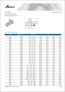Data sheet reducing tee