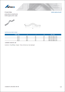Data sheet FF pipe bridge