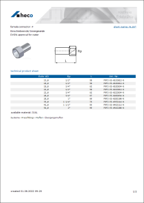 Data sheet female connector - F