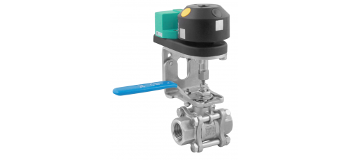 Stainless steel ball valves threaded ends inductive sensors