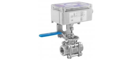 Stainless steel ball valves threaded ends mechanic limit switches