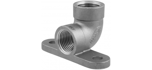 Stainless steel fittings PN 10 (ECO-Line) elbows with wall plate
