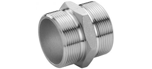 Stainless steel fittings PN 16/ 20 (ISO 4144) nipples with parallel thread