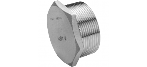 Stainless steel fittings PN 16/ 20 (ISO 4144) caps/plugs hexagon plugs