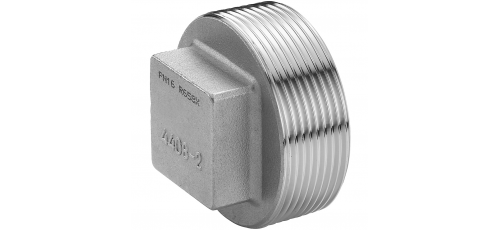Stainless steel fittings PN 16/ 20 (ISO 4144) caps/plugs square plugs