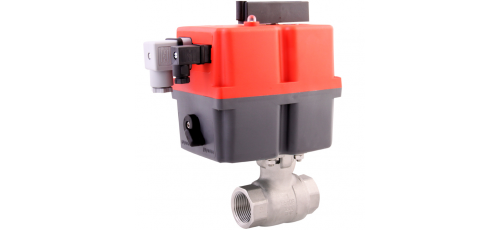 Stainless steel ball valves with actuator electric threaded ends & 2-piece