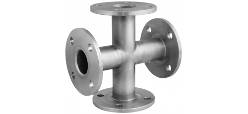 Stainless steel flange-fittings TT-pieces