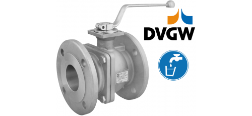 Stainless steel ball valves flanged ends DVGW approval for water