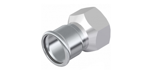 Stainless steel press fittings straight connector female adaptor