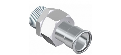 Stainless steel press fittings unions male thread
