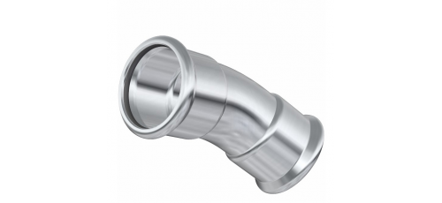 Stainless steel press fittings bends 30° and others
