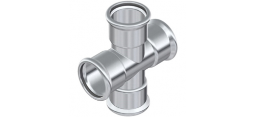 Stainless steel press fittings tees cross-piece