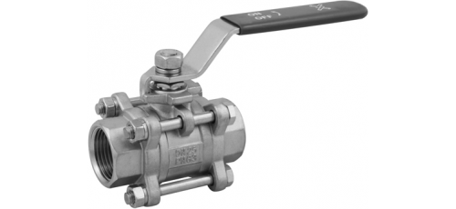 Stainless steel ball valves threaded ends 3-piece & full bore ECONOMIC
