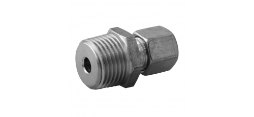 Stainless steel cutting rings straight couplings male thread BSPT