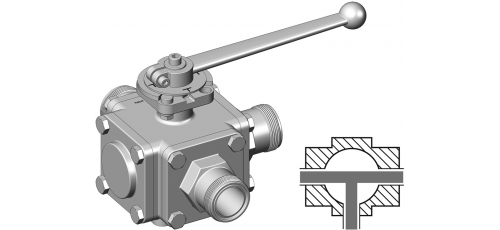 Stainless steel hecoNNECT ball valves connection: hecoNNECT