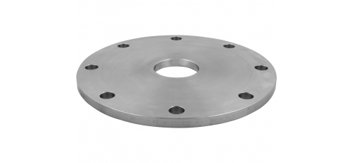 Stainless steel blind flanges with central hole with through hole