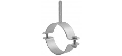 Stainless steel pipe clamps light design with threaded stem
