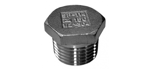 Stainless steel fittings PN 10 (ECO-Line) hexagon plugs