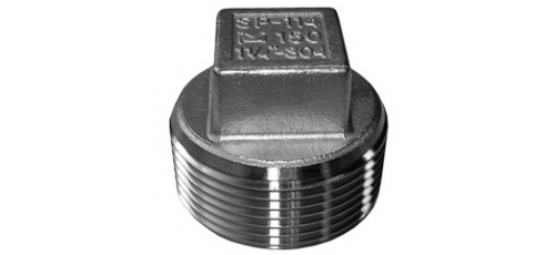 Stainless steel fittings PN 10 (ECO-Line) square plugs