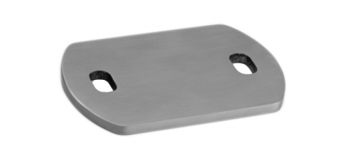 Stainless steel railing construction anchors and flanges Weld-on plate