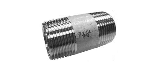 Stainless steel fittings PN 10 (ECO-Line) barrel nipples