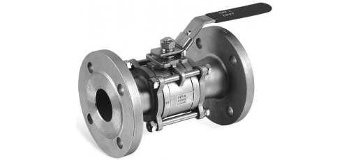 Stainless steel ball valves flanged ends 3-piece