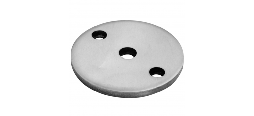 Stainless steel railing construction round blanks centre/ 2 x outer holes