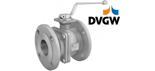 Stainless steel ball valves flanged ends DVGW approval for gases