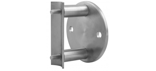 Stainless steel railing construction anchors and flanges with 2 spacer bushes