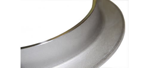 Stainless steel collars edge flat machined