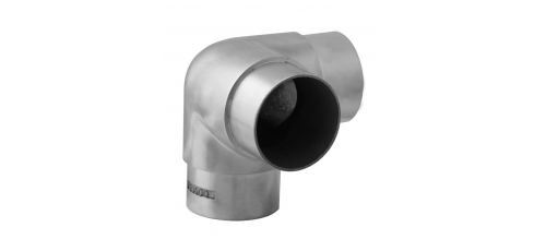 Stainless steel railing construction plug fittings Corner with tee