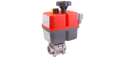 Stainless steel ball valves with actuator electric threaded ends & 3-piece