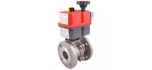 Stainless steel ball valves with actuator wafer-type ball valve & 2-pc.
