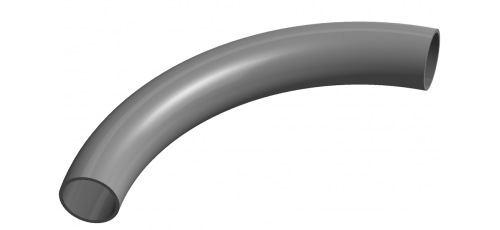 Stainless steel bends welded special radius 90° & without leg extension