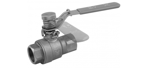 Stainless steel ball valves threaded ends with spring return