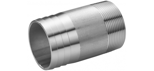 Stainless steel fittings PN 10 (ECO-Line) threaded hose nipples