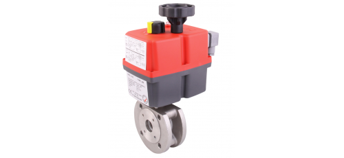 Stainless steel ball valves with actuator wafer-type ball valve & 1-pc.
