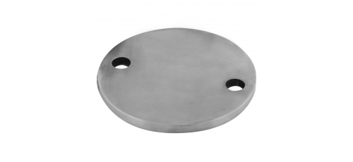 Stainless steel railing construction round blanks 2 x outer holes