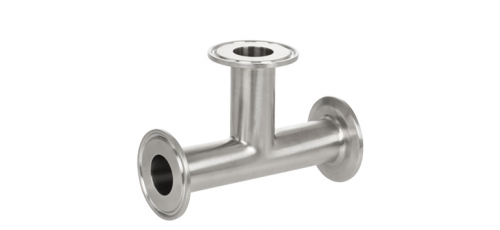 Stainless steel clamp connections pipe fittings T-pieces equal