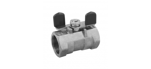 Stainless steel ball valves threaded ends with butterfly handle