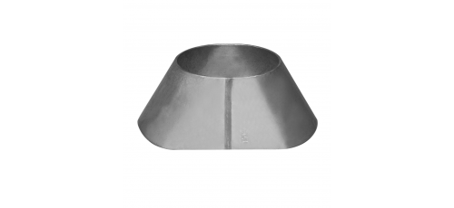 Stainless steel branch saddles to larger diameter produced from sheet