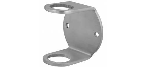 Stainless steel railing construction post clamps for welding on